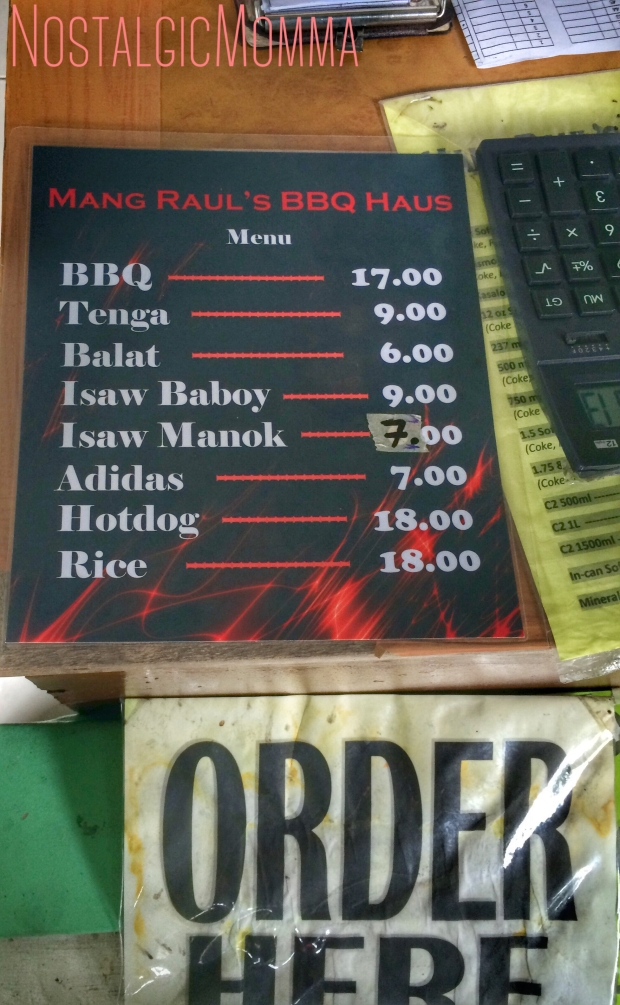 Mang Raul BBQ Haus Price List as of May 2016